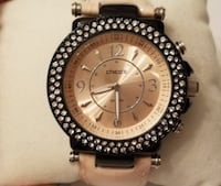 Round Chico's rose gold-colored oversized watch with crystals Silver Spring, 20910