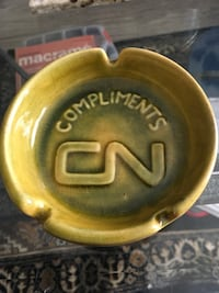 Vintage CN Ashtray From Quebec  Winnipeg, R2M 0Y7