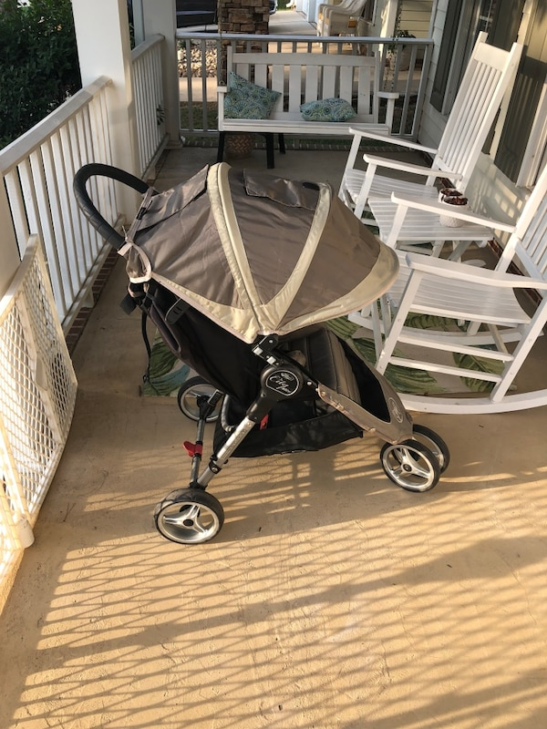 Baby Jogger City Mini 3 Wheel Single Stroller Sand Stone