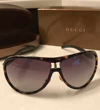 Gucci Authentic Aviator 1566 Brown Havana Glasses with Gold Trim