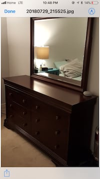 brown wooden dresser with mirror London, N6A