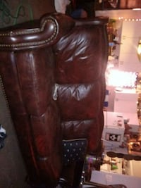 Beautiful leather couch brass buttons front and ba West Columbia, 29169