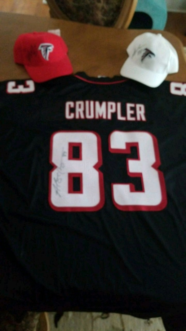 c594ad519e6795 Used Alge Crumpler signed Jersey and 2 caps for sale in Roswell - letgo
