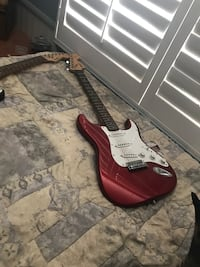 Red electric guitar Castaic, 91384