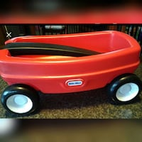 red Little Tikes wagon