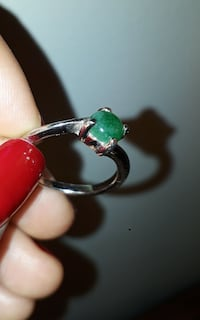 silver with green diamond rinbg Ottawa, K1G 3P6