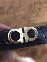 black Salvatore Ferragamo leather belt with buckle Halifax, B3S 1R5