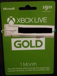 1 Month and 2 Days Xbox Live Gold Cowpens, 29330
