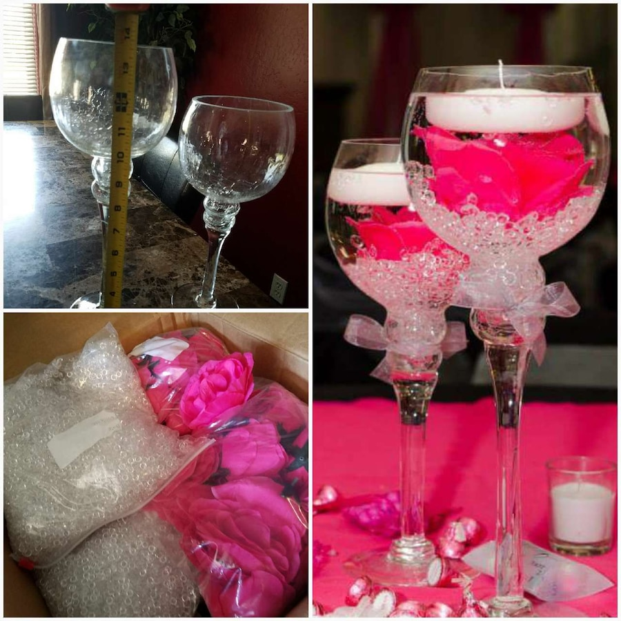 Great center pieces for wedding, quinceanera, or p