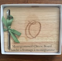 Monogrammed Cheese board & Cheese Markers - New  Toronto, M3A 1H4