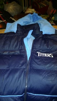 black and teal titans zipd up hooded jacket Shepherdsville, 40165