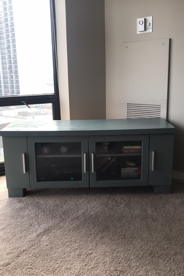 Used Refurbished green/blue TV stand- FREE for sale - letgo