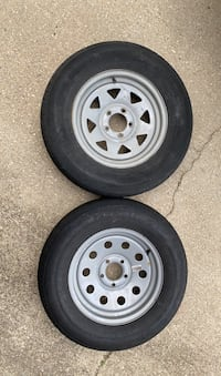 "2 Trailer rims 15""X5lug 4.5""lug pattern  (RIM ONLY)"