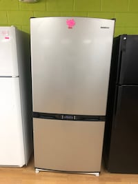 Silver/Black Samsung Bottom Freezer Refrigerator  Woodbridge, 22191