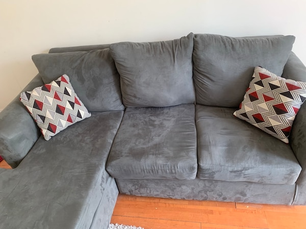 Sensational Slightly Used Wayfair Sectional Must Go 3 Days Machost Co Dining Chair Design Ideas Machostcouk