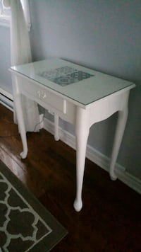 white wooden single-drawer end table Laval, H7X 3T5