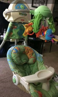 tropical themed fisher price deluxe bouncer Virginia Beach, 23452