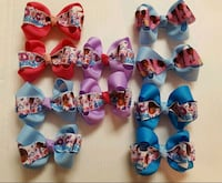 purple, pink, and blue hairbows.$5 each set of 2  El Paso, 79925