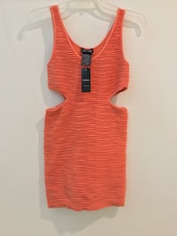 Orange Med Size Bebe Dress Chino