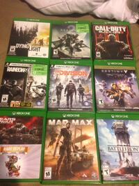 assorted Xbox One game cases Welland, L3B 2S5