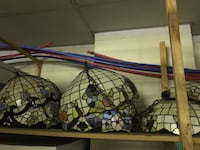 These are hand made stain glass lights I have 12 of them great for a restaurant remodel $100.00 ea.  St. Louis, 63143