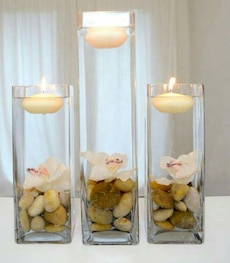three floating tealight set