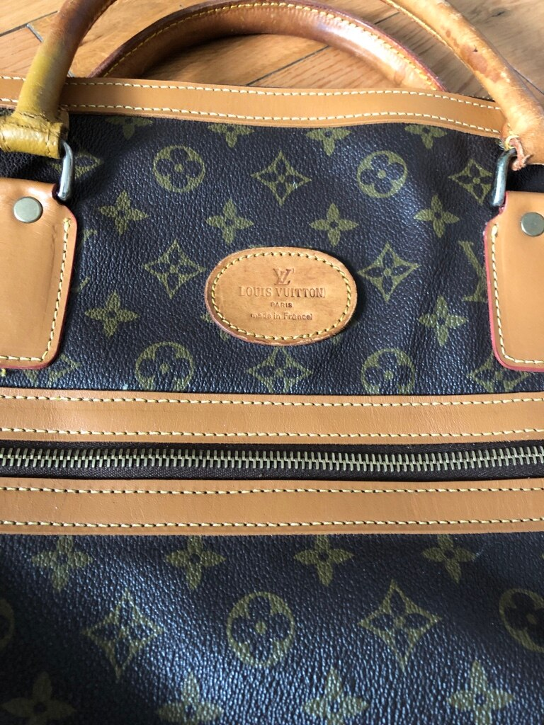 9119ceb67ab7 brown and black Louis Vuitton Monogram leather tote bag