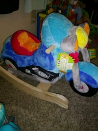 blue, yellow, and red rocking horse Long Beach, 90807