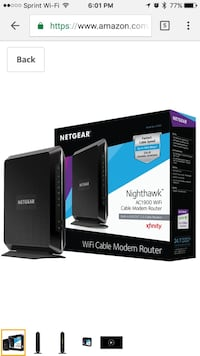 Black netgear wireless wifi cable router Brookhaven, 19015