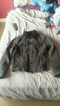 black and grey denim jacket Greater London, SE2