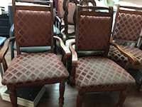 two brown wooden framed white padded armchairs Huntington Beach, 92648