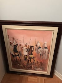 """Moroccan painting from Morocco first picture 31""""x35"""" 2nd picture is 33""""x37"""" Laval, H7W 5L8"""