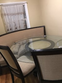rectangular brown wooden table with six chairs dining set 196 mi