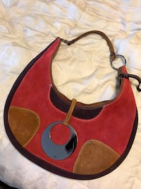 Guess -red suede hobo purse Gilbert, 85233
