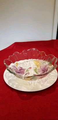 Colorful Glass Fruit Bowl