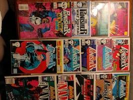 Punisher lot: 14 comics, 21 cards