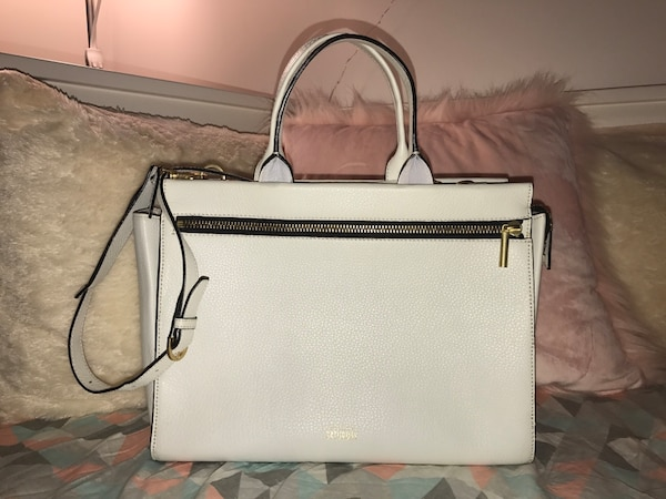 1b4a2d8157c0 Used Kate Spade Saturday White Leather Two Way Bag for sale in Mississauga  - letgo