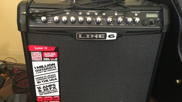 Guitar amp  Line 6 spider IV w/switch pedal