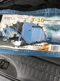 Tent- T-10 backside dome tent pack Fort Collins, 80525