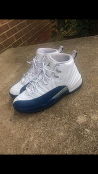 pair of French Blue Air Jordan 12
