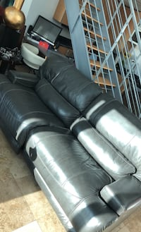 Real leather electric recliner couch.  Miami, 33130