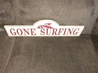 Gone surfing sign Allentown, 18104