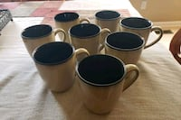 8 coffee mugs Forest Hill