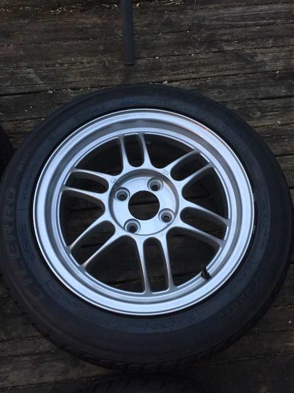 Enkei rpf1 rims with brand new 195 55 15 tires  0b7018e9-4a19-4725-bfd4-4738914a2997