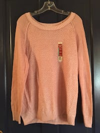NWT faded glory peach knit sweater Hagerstown, 21740