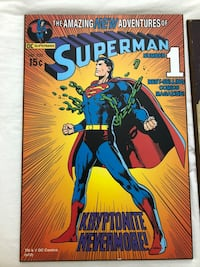 Superman Vintage Comic Book Wall Plaque