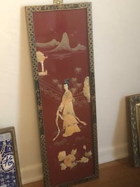 Vintage Asian lacquer and mother of pearl wall hanging Ocala, 34470