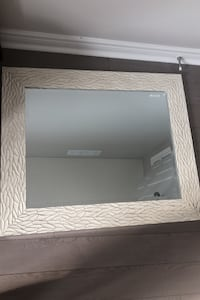 Beautiful white and silver mixed mirror. Ideal for foyer rooms