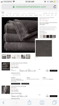 BNIB Restoration Hardware throw Toronto, M5P 2J7