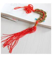 5 Coin Red Feng Shui Luck / Wealth / Fortune Tassel,  Brand New   Modesto, 95350